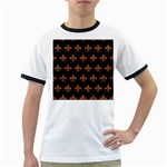 ROYAL1 BLACK MARBLE & RUSTED METAL Ringer T-Shirts Front