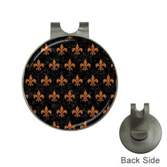 ROYAL1 BLACK MARBLE & RUSTED METAL Hat Clips with Golf Markers