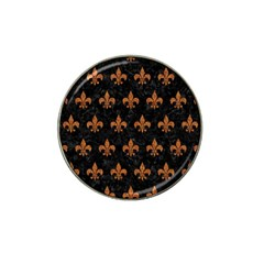 ROYAL1 BLACK MARBLE & RUSTED METAL Hat Clip Ball Marker