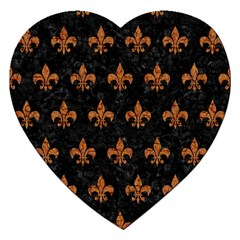 ROYAL1 BLACK MARBLE & RUSTED METAL Jigsaw Puzzle (Heart)