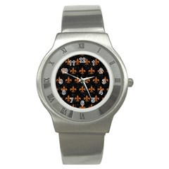 ROYAL1 BLACK MARBLE & RUSTED METAL Stainless Steel Watch