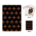 ROYAL1 BLACK MARBLE & RUSTED METAL Playing Card Back