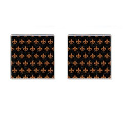 ROYAL1 BLACK MARBLE & RUSTED METAL Cufflinks (Square)