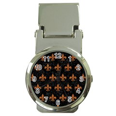 Royal1 Black Marble & Rusted Metal Money Clip Watches