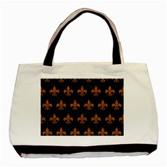 ROYAL1 BLACK MARBLE & RUSTED METAL Basic Tote Bag