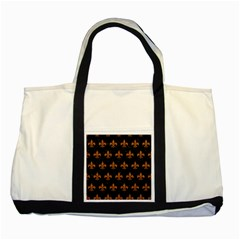 Royal1 Black Marble & Rusted Metal Two Tone Tote Bag by trendistuff