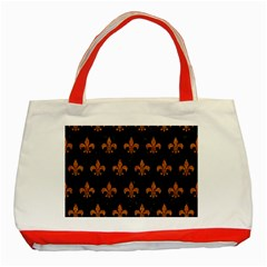 ROYAL1 BLACK MARBLE & RUSTED METAL Classic Tote Bag (Red)