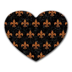 ROYAL1 BLACK MARBLE & RUSTED METAL Heart Mousepads