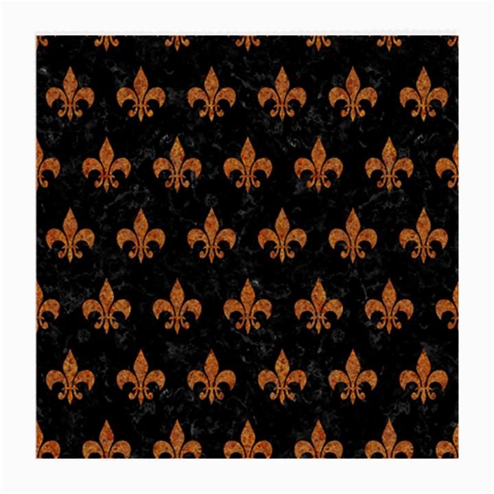 ROYAL1 BLACK MARBLE & RUSTED METAL Medium Glasses Cloth (2-Side)