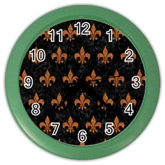 ROYAL1 BLACK MARBLE & RUSTED METAL Color Wall Clocks