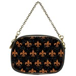 ROYAL1 BLACK MARBLE & RUSTED METAL Chain Purses (One Side)