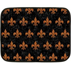 ROYAL1 BLACK MARBLE & RUSTED METAL Double Sided Fleece Blanket (Mini)