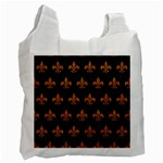 ROYAL1 BLACK MARBLE & RUSTED METAL Recycle Bag (Two Side)