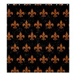 ROYAL1 BLACK MARBLE & RUSTED METAL Shower Curtain 66  x 72  (Large)