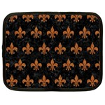 ROYAL1 BLACK MARBLE & RUSTED METAL Netbook Case (XL)  Front