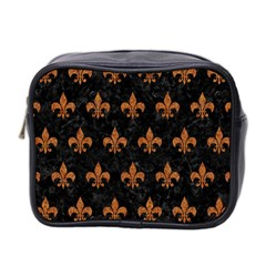 ROYAL1 BLACK MARBLE & RUSTED METAL Mini Toiletries Bag 2-Side