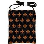 ROYAL1 BLACK MARBLE & RUSTED METAL Shoulder Sling Bags