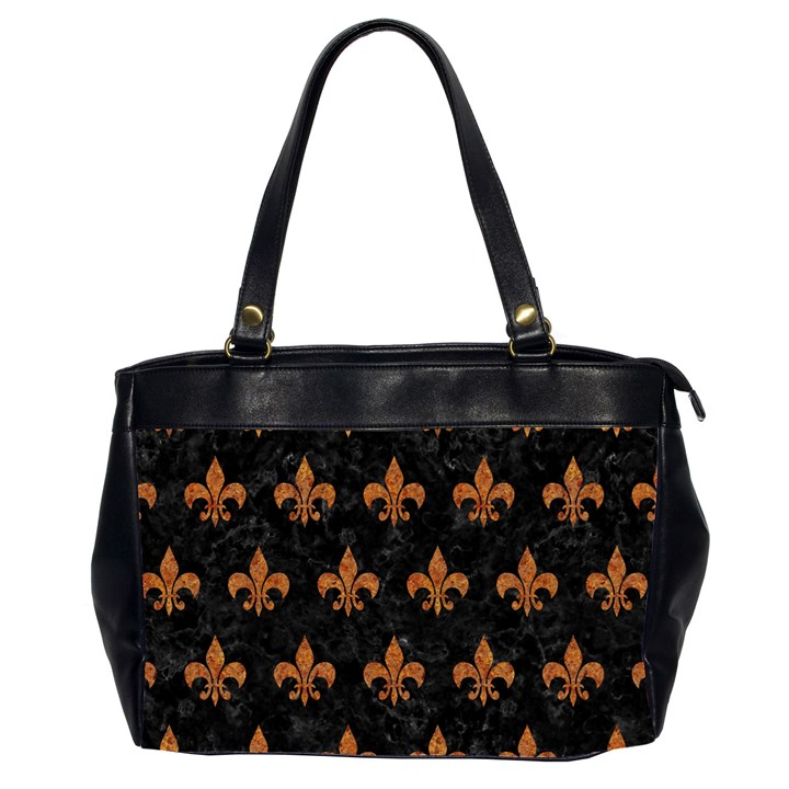 ROYAL1 BLACK MARBLE & RUSTED METAL Office Handbags (2 Sides)