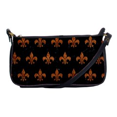 ROYAL1 BLACK MARBLE & RUSTED METAL Shoulder Clutch Bags