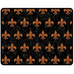 ROYAL1 BLACK MARBLE & RUSTED METAL Fleece Blanket (Medium)