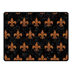 ROYAL1 BLACK MARBLE & RUSTED METAL Fleece Blanket (Small)