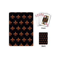 ROYAL1 BLACK MARBLE & RUSTED METAL Playing Cards (Mini)