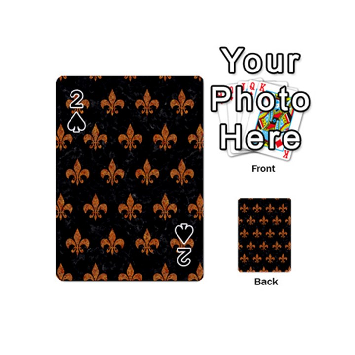 ROYAL1 BLACK MARBLE & RUSTED METAL Playing Cards 54 (Mini)