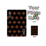 ROYAL1 BLACK MARBLE & RUSTED METAL Playing Cards 54 (Mini)  Front - Spade3