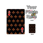 ROYAL1 BLACK MARBLE & RUSTED METAL Playing Cards 54 (Mini)  Front - Heart3