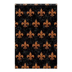 ROYAL1 BLACK MARBLE & RUSTED METAL Shower Curtain 48  x 72  (Small)
