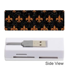 ROYAL1 BLACK MARBLE & RUSTED METAL Memory Card Reader (Stick)