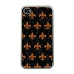 ROYAL1 BLACK MARBLE & RUSTED METAL Apple iPhone 4 Case (Clear)