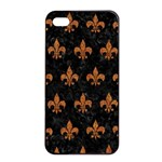 ROYAL1 BLACK MARBLE & RUSTED METAL Apple iPhone 4/4s Seamless Case (Black) Front