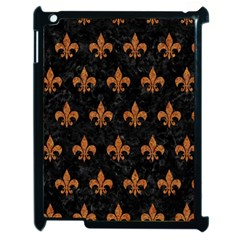 ROYAL1 BLACK MARBLE & RUSTED METAL Apple iPad 2 Case (Black)