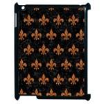 ROYAL1 BLACK MARBLE & RUSTED METAL Apple iPad 2 Case (Black)