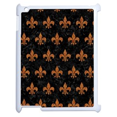 ROYAL1 BLACK MARBLE & RUSTED METAL Apple iPad 2 Case (White)