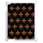 ROYAL1 BLACK MARBLE & RUSTED METAL Apple iPad 2 Case (White)