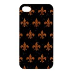 ROYAL1 BLACK MARBLE & RUSTED METAL Apple iPhone 4/4S Hardshell Case