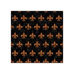 ROYAL1 BLACK MARBLE & RUSTED METAL Acrylic Tangram Puzzle (4  x 4 )