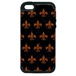ROYAL1 BLACK MARBLE & RUSTED METAL Apple iPhone 5 Hardshell Case (PC+Silicone)