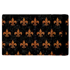 ROYAL1 BLACK MARBLE & RUSTED METAL Apple iPad 3/4 Flip Case