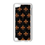 ROYAL1 BLACK MARBLE & RUSTED METAL Apple iPod Touch 5 Case (White) Front