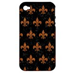 ROYAL1 BLACK MARBLE & RUSTED METAL Apple iPhone 4/4S Hardshell Case (PC+Silicone)
