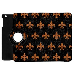 ROYAL1 BLACK MARBLE & RUSTED METAL Apple iPad Mini Flip 360 Case