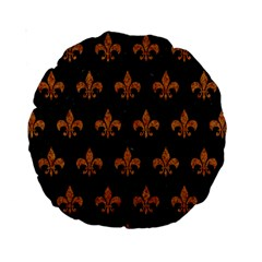 ROYAL1 BLACK MARBLE & RUSTED METAL Standard 15  Premium Round Cushions