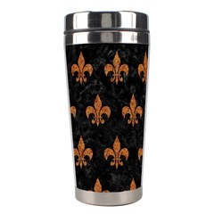 ROYAL1 BLACK MARBLE & RUSTED METAL Stainless Steel Travel Tumblers