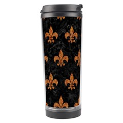 ROYAL1 BLACK MARBLE & RUSTED METAL Travel Tumbler