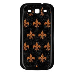 ROYAL1 BLACK MARBLE & RUSTED METAL Samsung Galaxy S3 Back Case (Black)