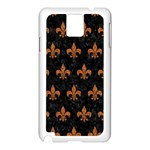 ROYAL1 BLACK MARBLE & RUSTED METAL Samsung Galaxy Note 3 N9005 Case (White)