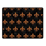 ROYAL1 BLACK MARBLE & RUSTED METAL Double Sided Fleece Blanket (Small)  45 x34 Blanket Front